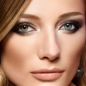 Вечерний макияж для серых